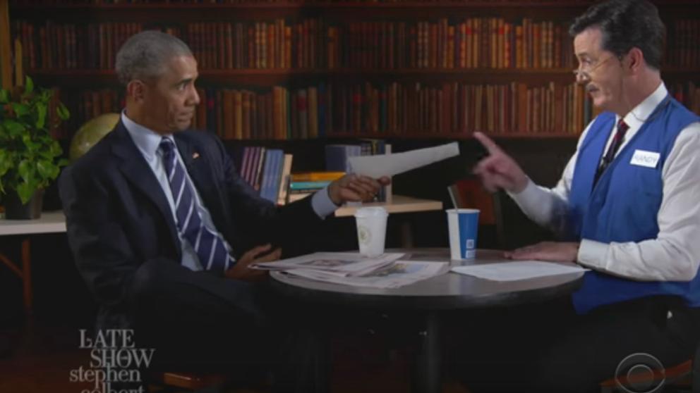 Obama acude a una 'entrevista' de trabajo
