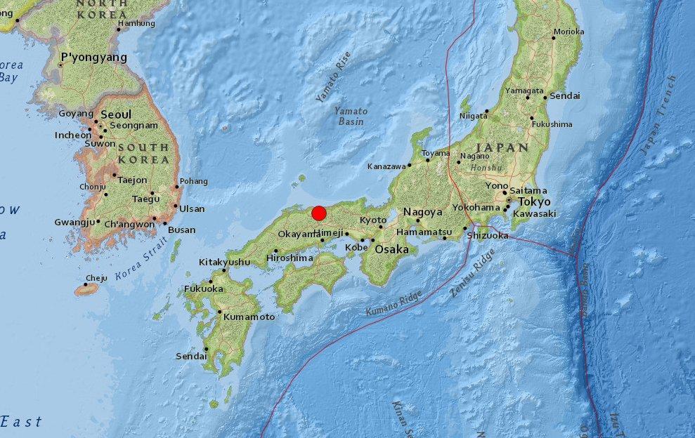 Un sismo de 6,6 grados sacude el oeste de Japón, hay heridos