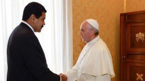 El papa se reúne con Maduro y le pide un 'diálogo constructivo' con la oposición