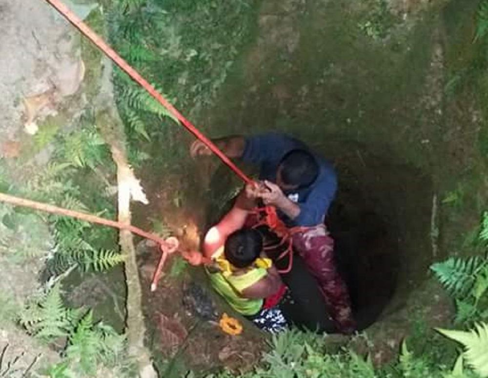 Lo salvan de morir en el fondo de un pozo