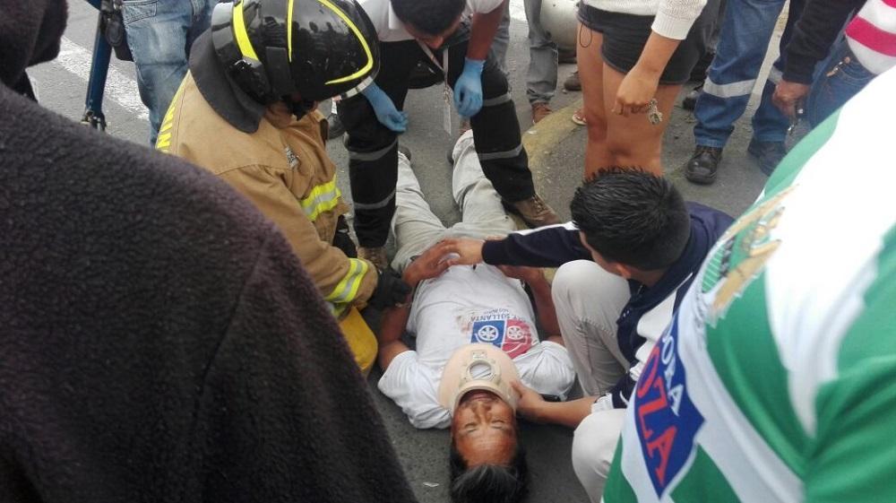 Dos heridos en un choque en la av. Tsáfiqui