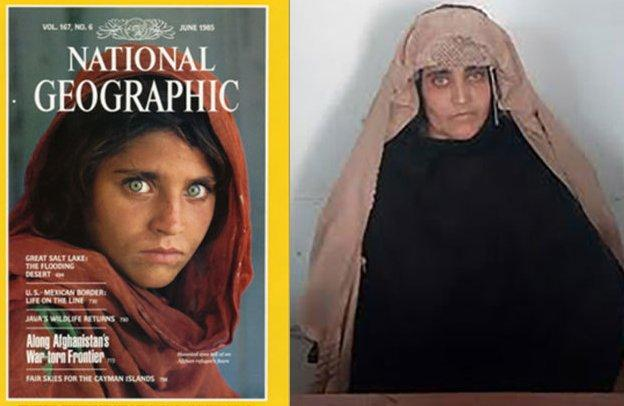 Detienen a la 'niña afgana de National Geographic' por documentos falsos en Pakistán