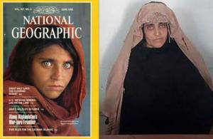 Detienen a la 'niña afgana de National Geographic' por documentos falsos en Pakistán