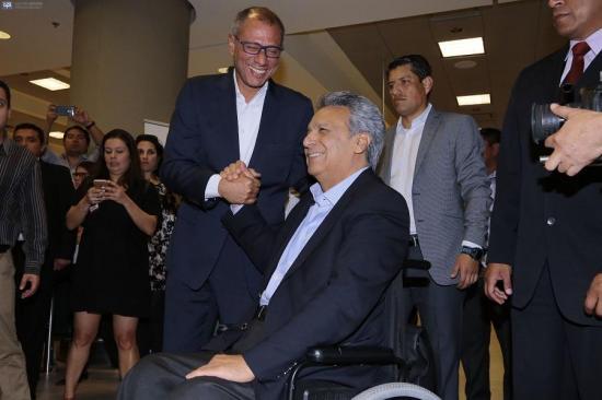 Lenín Moreno ratifica que Jorge Glas será su binomio presidencial