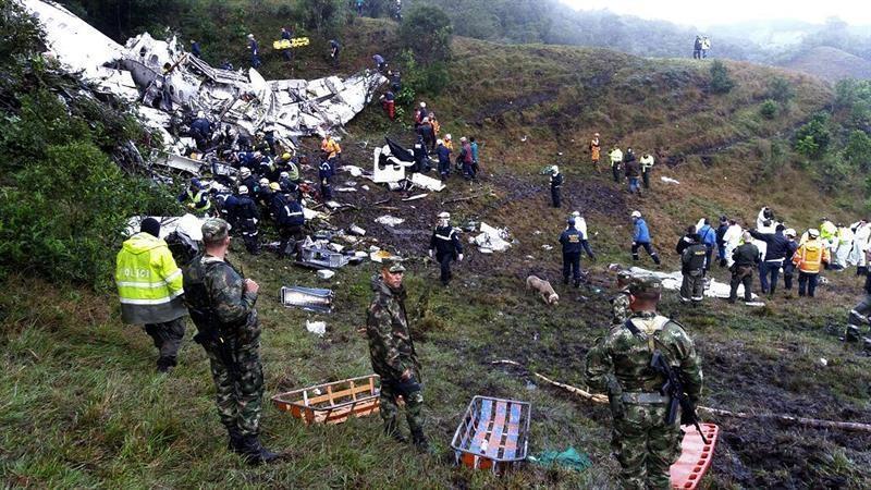El accidente se produjo la noche del lunes 28 de noviembre de 2016 cerca de Medellín (Colombia)