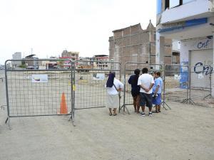 Sin fecha para reabrir la 'zona cero' de Portoviejo