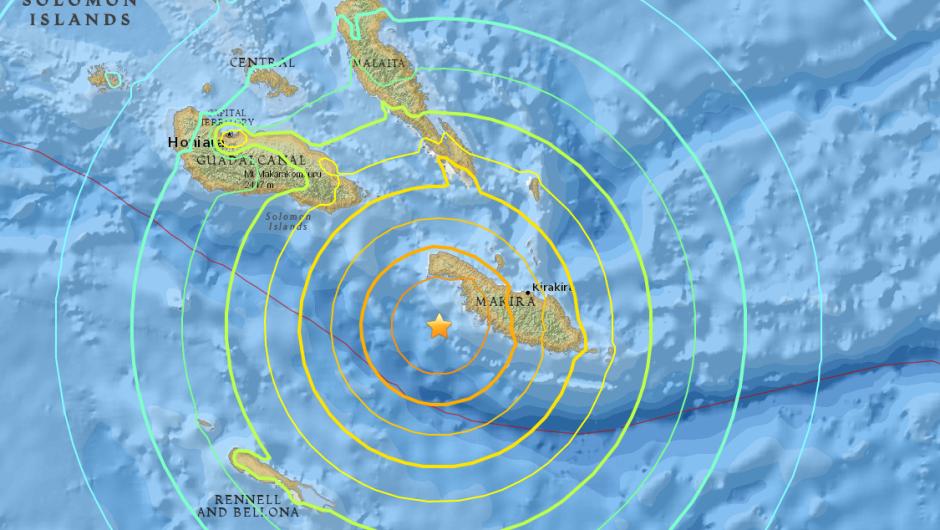 Alerta de tsunami tras terremoto de 7.7 grados en Islas Salomón fue levantada