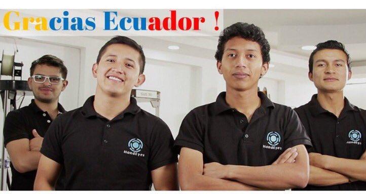 Ecuatorianos ganan concurso internacional de History Channel con el proyecto HandEyes