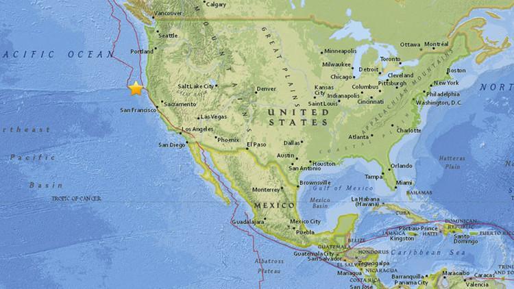 Un sismo de 6,5 grados sacude la costa de California, Estados Unidos