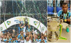 Miller Bolaños se corona campeón de la Copa Brasil con el Gremio