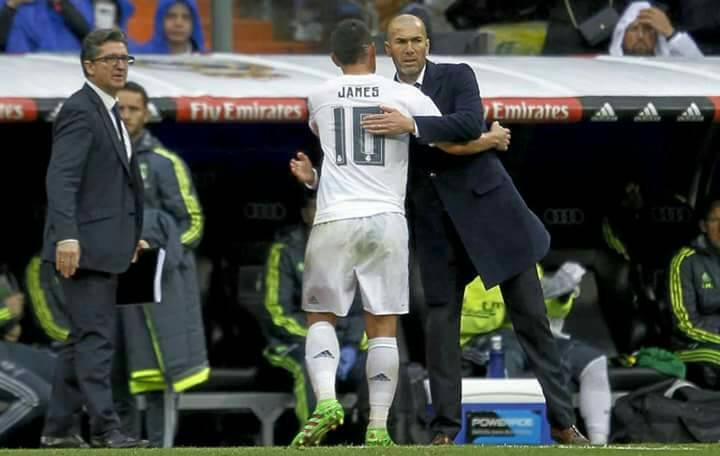 Zidane insiste en que no quiere que James salga del Real Madrid