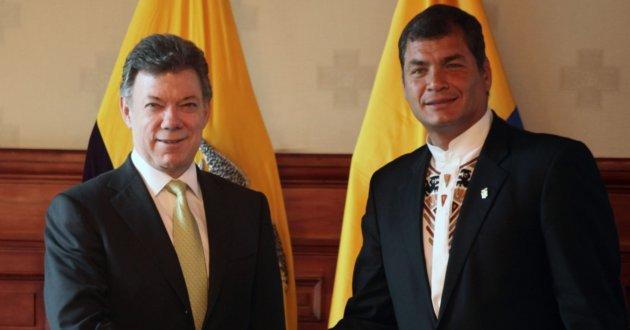 Correa felicita a Santos por Nobel de Paz y dice que es 'orgullo' de América Latina