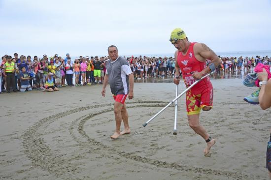 Marcelo Toscano, atleta con discapacidad, volverá a participar en el Ironman 70.3