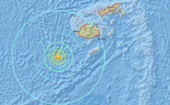 Sismo de magnitud 7,2 sacude el mar al sur de Fiyi con posibilidad de tsunami