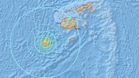 Retiran aviso de tsunami y reducen a 6,9 la magnitud del sismo en Fiyi