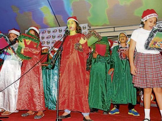 Demostraron su talento durante un tradicional festival de cánticos