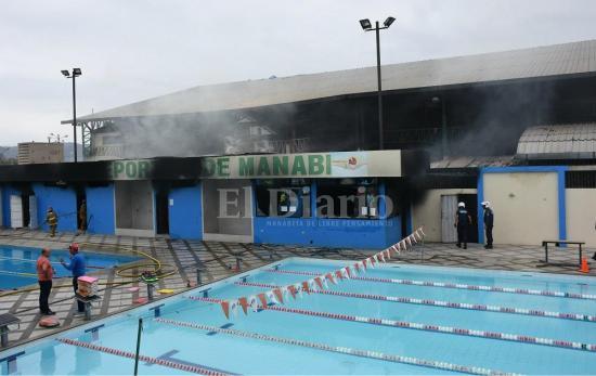 Incendio en el complejo La California causa alarma en Portoviejo