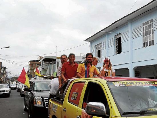 Bucaram visitó cinco cantones