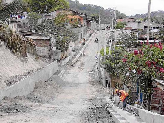 Tres calles en el sector de Fe y Alegría, en la San Pablo, son intervenidas