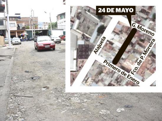 """La calle 24 de Mayo  está """"botada"""", dicen moradores del sector"""