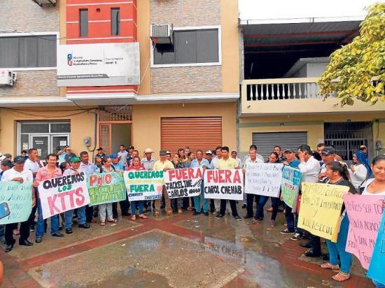 Agricultores protestan por falta de insumos agrícolas y créditos