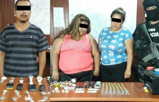 Tres acusados por venta de droga
