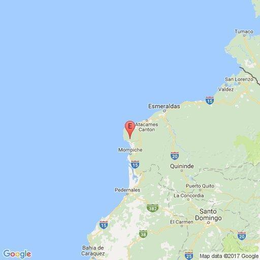 Se han registrado 3171 réplicas del terremoto del 16 de abril