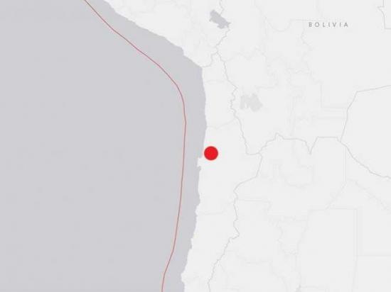 Se registra un sismo de magnitud 5,7 en el norte de Chile