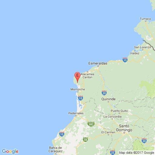 Un sismo de 5,2 grados sacude la localidad de Muisne, Esmeraldas