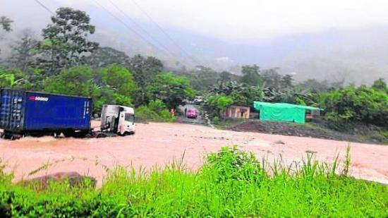 Intensas lluvias causan estragos en varias partes del país