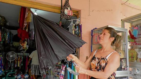 Paraguas, entre los más solicitados