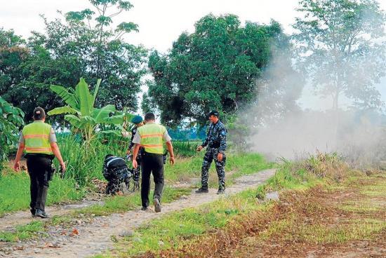 Agricultores hallan una granada en recinto de Montalvo