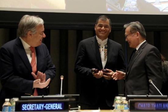 Ecuador asume la presidencia del G77 y se compromete a promover la igualdad