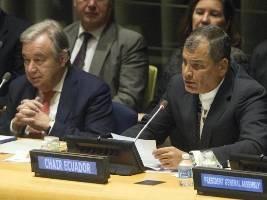 Correa asume presidencia G77