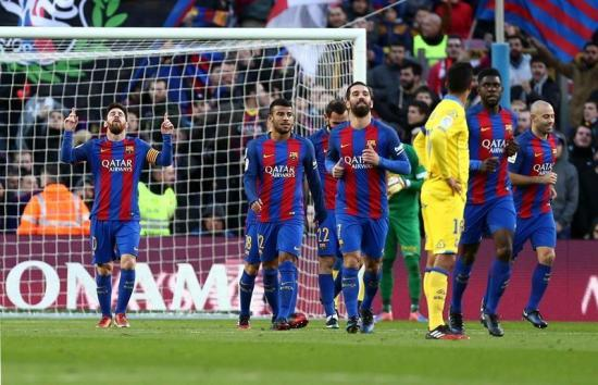 Barcelona FC goleó a Las Palmas, la víctima número 35 de Lionel Messi