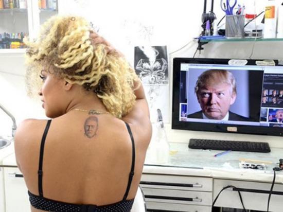 Con Trump  en la piel