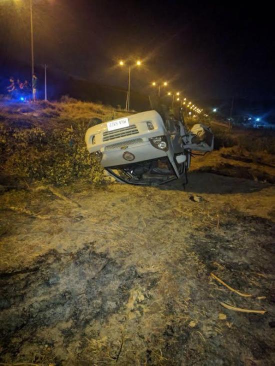 Accidente de tránsito en la vía Rocafuerte-Crucita deja un muerto y dos heridos