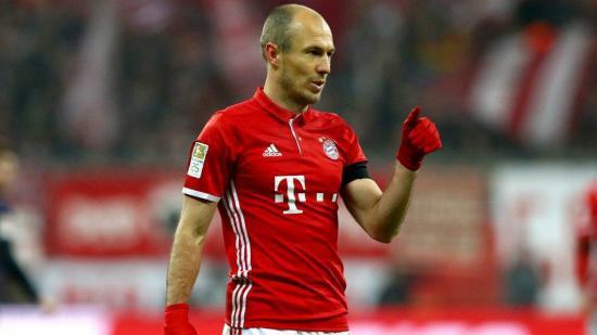 Arjen Robben renovará su contrato con el Bayern hasta 2018