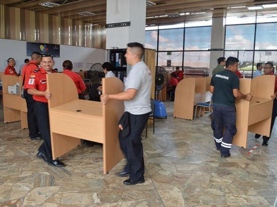 El Cuerpo de Bomberos se pasa al aeropuerto Reales Tamarindos