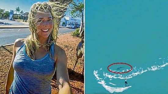 Bloguera se topa con un tiburón