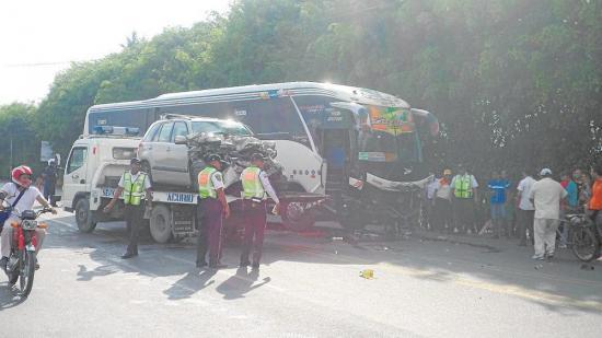 Choque deja tres heridos en Babahoyo