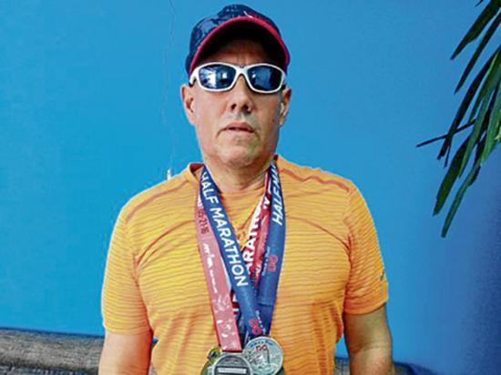 Manabita es aficionado de las media  maratones