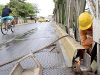 Reajustan planchas movidas en el puente Mamey tras el 16A