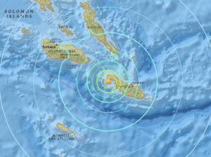 Un sismo de magnitud 6,8 sacude Islas Salomón, en el Pacífico Sur