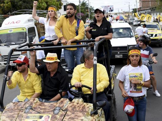 Abdalá Bucaram llegó a Portoviejo con su  propuesta de gobierno
