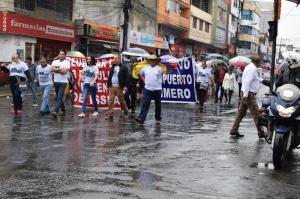 Marcha recorrió dos avenidas