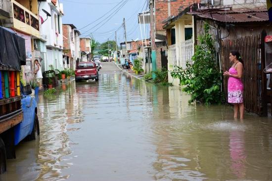 Portoviejo registra las lluvias más intensas a nivel nacional, según el Inamhi