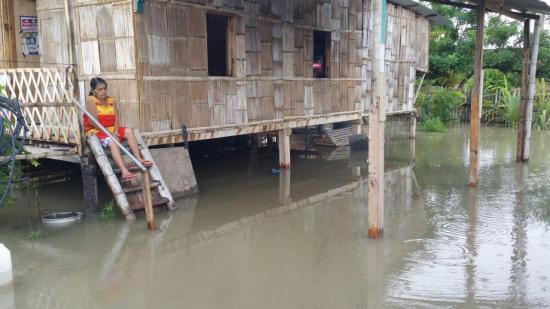 La 'zona cero' y otros sectores de Manta afectados por inundaciones