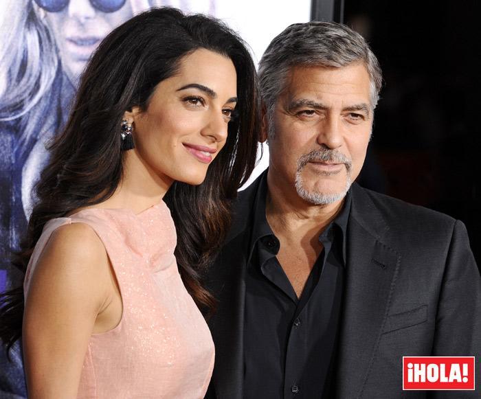 ¡Confirmado! George Clooney y su esposa Amal tendrán gemelos