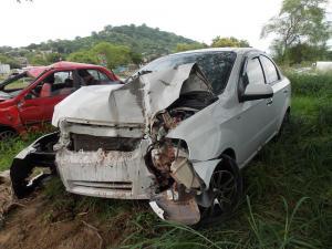 Dos accidentes de tránsito en Portoviejo dejaron tres personas heridas